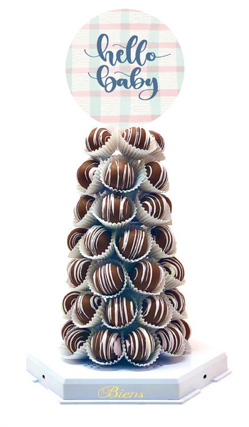 Hello Baby Bien Tower - The Dessert Ladies, custom corporate gifts, gourmet chocolate gifts,
