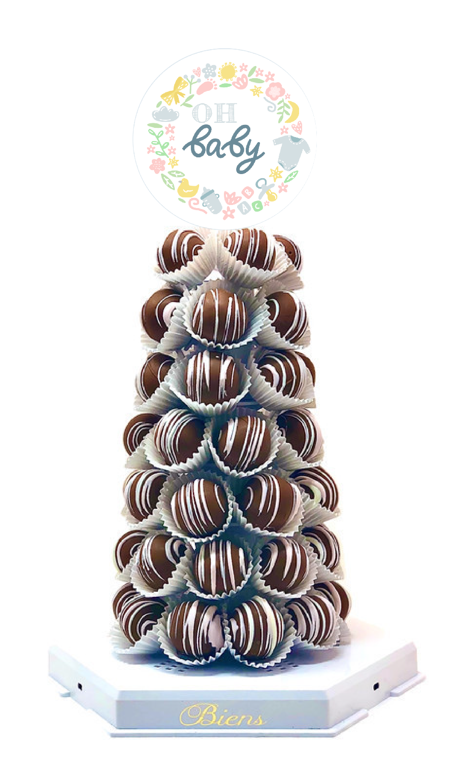 OH Baby Bien Tower - The Dessert Ladies, custom corporate gifts, gourmet chocolate gifts,