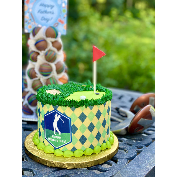 Father's Day Golf Cake - The Dessert Ladies
