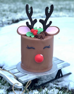 Rudolph Cake - The Dessert Ladies