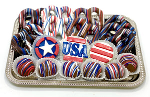 Classic Patriotic Platter - The Dessert Ladies, custom corporate gifts, gourmet chocolate gifts,
