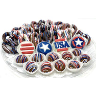 Large Patriotic Platter - The Dessert Ladies, custom corporate gifts, gourmet chocolate gifts,
