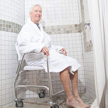 Load image into Gallery viewer, Rolling Shower and Commode Transport Padded Chair with Wheels