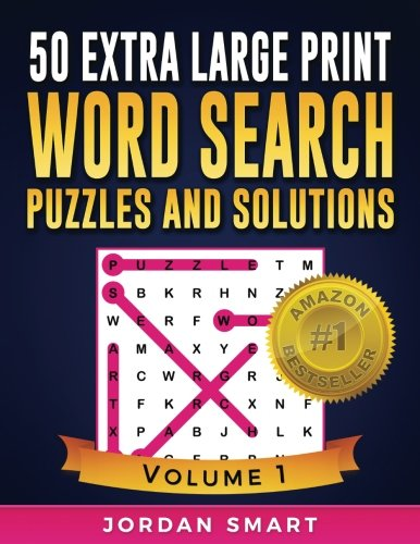 50 Extra Large Print Word Search Puzzles and Solutions