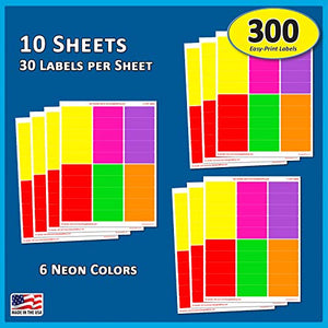 Colored Sticky Labels