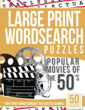 Load image into Gallery viewer, Large Print Wordsearches Puzzles Popular Movies of the 50's