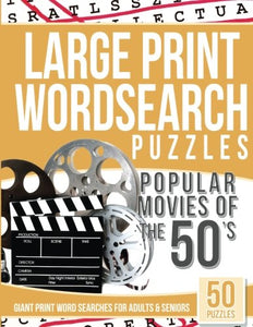 Large Print Wordsearches Puzzles Popular Movies of the 50's