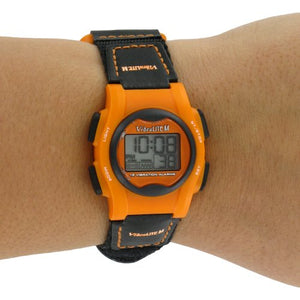 VibraLITE Mini 12-Alarm Vibrating Watch - Black & Orange