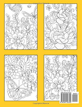 Load image into Gallery viewer, Large Print Adult Coloring Book: Flowers & Easy Designs