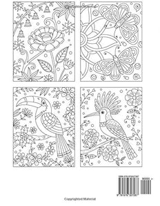 Large Print Animals & Flower Patterns Coloring Book (Premium Adult Coloring Books) (Volume 12)