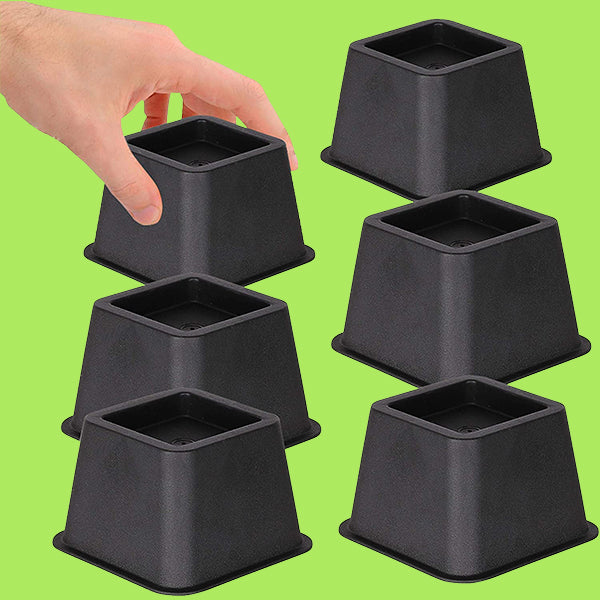 Bed or Furniture Risers (Black)