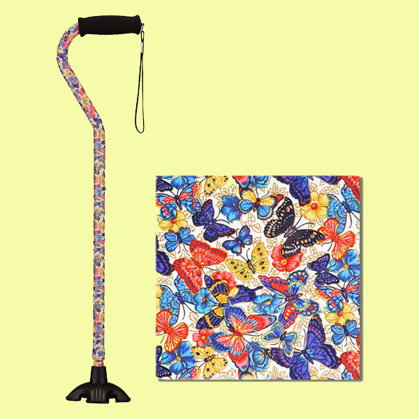 Walking Cane - Butterfly Symphony Design
