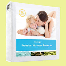 Load image into Gallery viewer, Smooth Fabric Mattress Protector