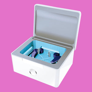 Automatic Hearing Aid UV-C Disinfecting and Cleaning System