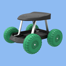 Load image into Gallery viewer, Garden Cart Rolling Scooter with Seat and Tool Tray