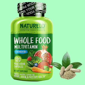 NATURELO Whole Food Multivitamin for Men 50+