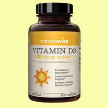 Load image into Gallery viewer, NatureWise Vitamin D3 5,000 IU