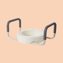 Load image into Gallery viewer, Raised Toilet Seat with Removable Arms