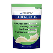 Load image into Gallery viewer, Bedtime Latte - Moringa & Cardamom (45 night servings) - Moon Brew®