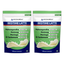 Load image into Gallery viewer, Bedtime Latte - Moringa & Cardamom (Pack of 2 - 10% OFF) - Moon Brew®