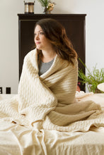 Load image into Gallery viewer, Certified Organic Cotton Matelasse' Blanket