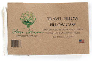 Organic Pillowcase for Travel Pillow