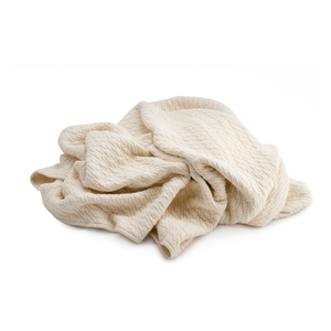 Certified Organic Cotton Matelasse' Blanket