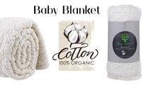 Load image into Gallery viewer, Certified Organic Cotton Matelasse' Baby Blanket