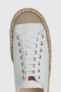 White canvas espadrille trainers