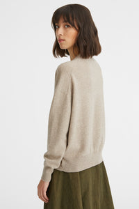 Embroidered cashmere jumper