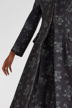 Load image into Gallery viewer, Floral denim long coat