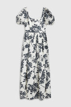 Load image into Gallery viewer, Balloon sleeve floral maxi dress