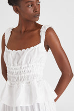 Load image into Gallery viewer, White smocked sleeveless top