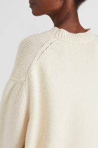 Mock neck cashmere jumper