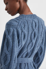 Load image into Gallery viewer, Blue cachemere cardigan