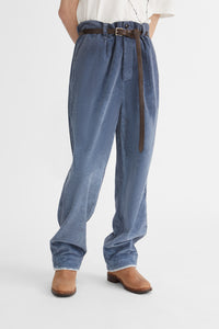 Loose fit corduroy trousers