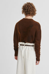 Rust crew neck jumper