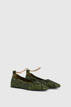 Load image into Gallery viewer, Dark green Augusta ballet flats