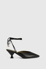 Load image into Gallery viewer, Black Benedicta slingback mules