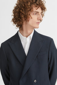 Double breasted wool jacket