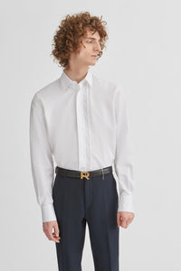 Dress shirt with braided trim