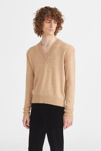V-neck wool jumper