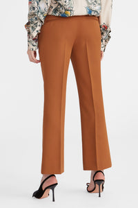 Copper wool cropped trousers