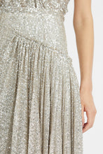 Load image into Gallery viewer, Sequin-embellished midi skirt