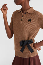 Load image into Gallery viewer, Alpaca polo shirt with ribbon