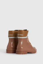 Load image into Gallery viewer, Tan Florrie lace-up rain boots