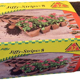 Jiffy pots- 4 bandes de 8 pots (32pots) BIODEGRADABLE