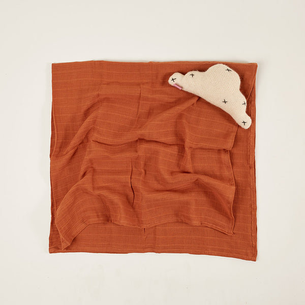Light Blanket / Baby Muslin - Tobacco