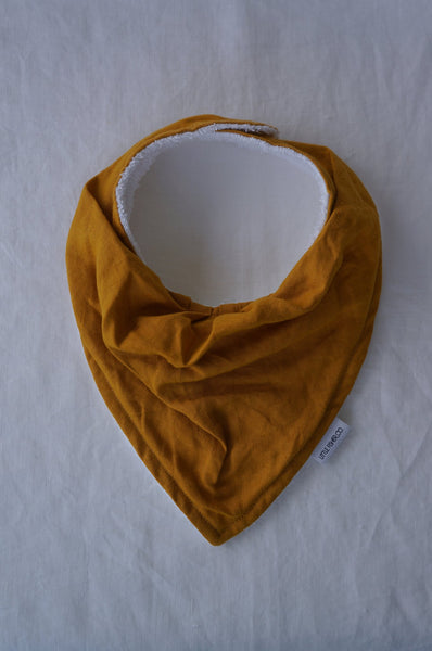 LITTLE FISHER French Linen Baby Bandana Bib - Mustard