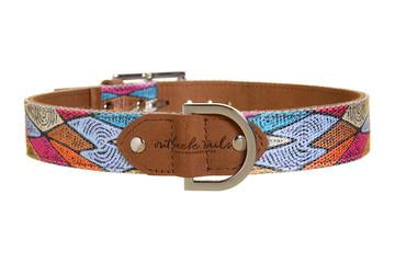Outback Tails Leather Dog Collar - Sand Dunes